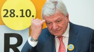 Ministerpräsident Volker Bouffier bei einem Wahlkampfauftritt