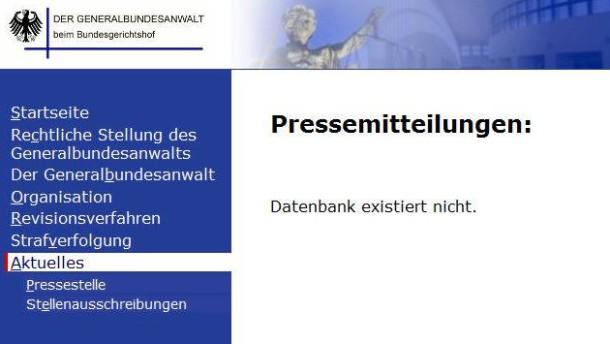 Hackerangriff auf Internetseite der Bundesanwaltschaft