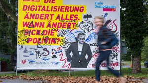 Zerstörte Wahlplakate: Einige Parteien sprechen von mehr Fällen