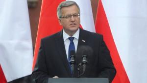 Komorowski warnt den Westen vor Appeasement-Politik