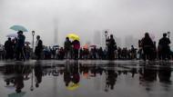 Diffuses Bild aus Schanghai: Angst vor Übernahmen aus China ist ein Antrieb für Altmaiers neue Industriestrategie.