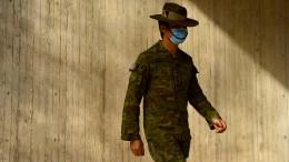 Soldaten überwachen den Lockdown in Sydney