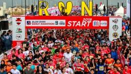 Starker Wille beim Marathon in Beirut