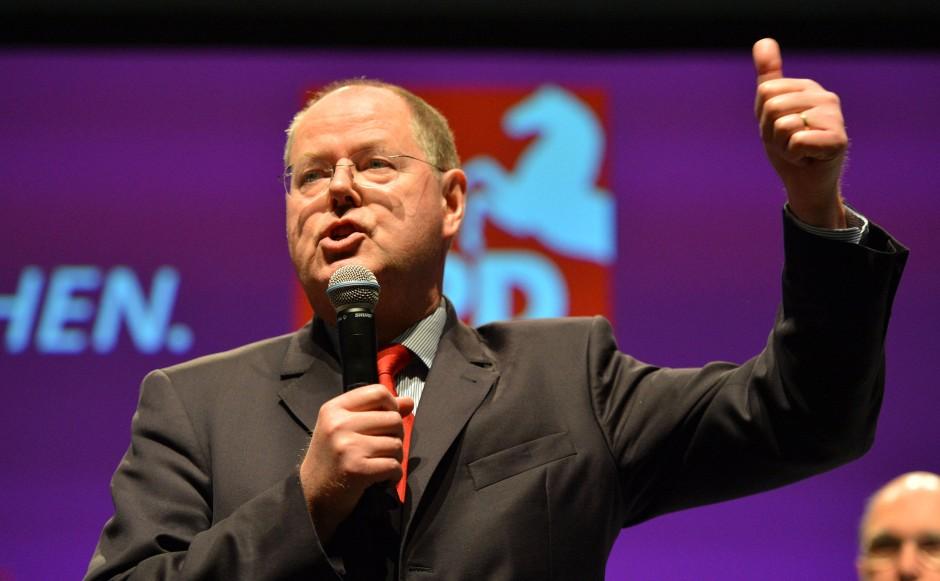 Peer Steinbrück: Wenn's um Geld geht, Sparkasse