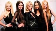 Heidis Topmodel-Familie: Die äußerst belesene Sabrina, die nachdenkliche Luise, Geburtstagskind Heidi Klum, Gewinnerin und demnächst-Single Lovelyn, und die Zweitplatzierte Maike