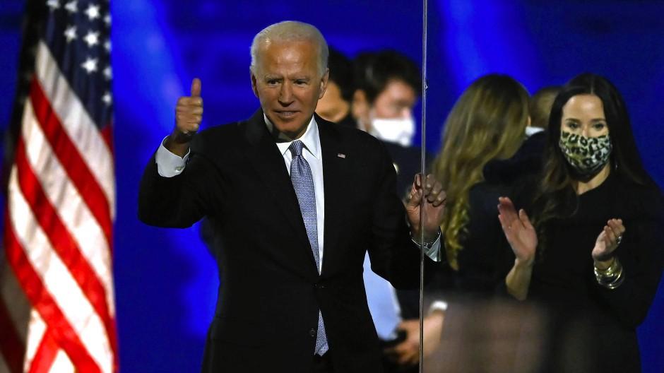 In Wilmington: Joe Biden und seine Tochter Ashley am 7. November