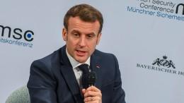 """Macron """"ungeduldig"""" mit Deutschland"""