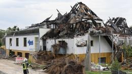 Strandhotel an der Ostsee ausgebrannt