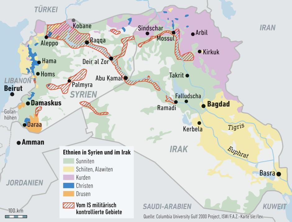 Syrien Irak Karte.Bilderstrecke Zu Krieg Gegen Is Warum Obama Nicht In Syrien