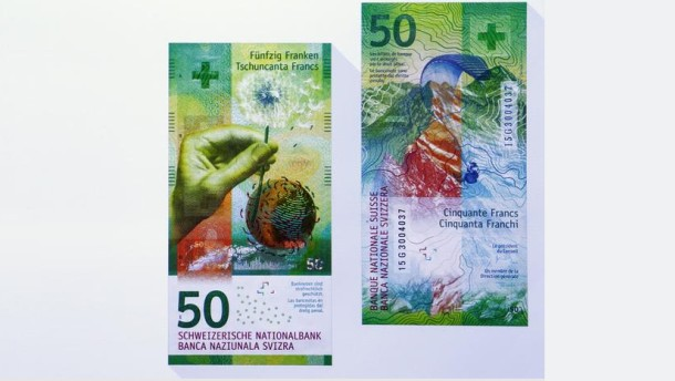The new 50 Swiss Franc note