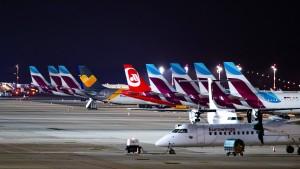 Warnstreik am Flughafen Düsseldorf