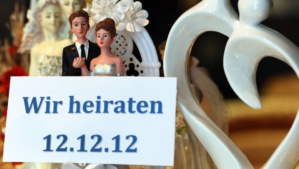 Schnapszahlhochzeit am 12.12.12.