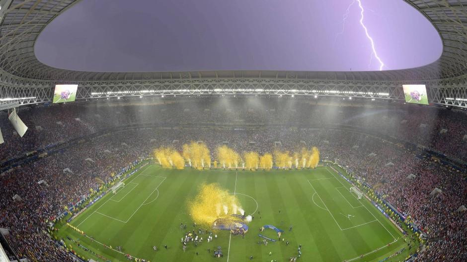 Das Luschniki-Stadion in Moskau nach dem WM-Finale zwischen Frankreich und Kroatien