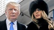 """""""Es war ein Moment voller Chemie und Energie. Wir unterhielten uns und spürten sofort, dass da etwas war"""": Melania und Donald Trump nach einer Modenschau in New York im Jahr 2007"""