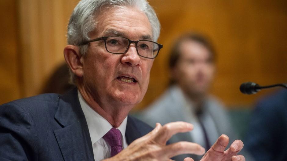 Fed-Chef Jerome Powell im Juli bei einer Sitzung im US-Senat in Washington.