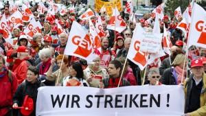 Streik in Schulen, Kitas und Behörden