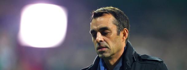 Er sah schon vor dem Spiel wie ein Verlierer aus: Werder-Trainer Robin Dutt