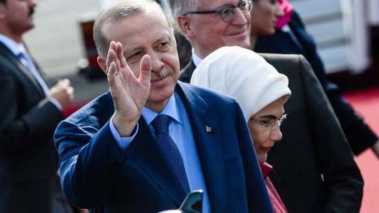 Erdogan in Tegel empfangen