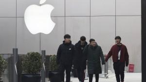 Apple verkauft in China ein Fünftel weniger iPhones