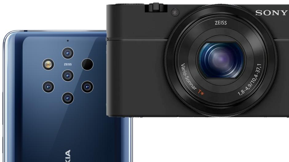 Zwei Beispiele: Das Smartphone Nokia Pureview 9 und die Kompaktkamera Sony RX100