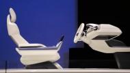Eine Konzeptstudie von Volvo für das Innere ein Roboterautos