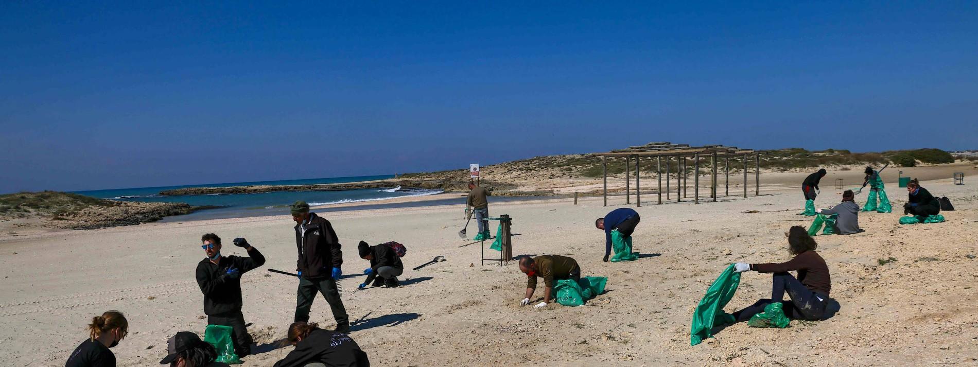 Ölpest vor der Küste Israels