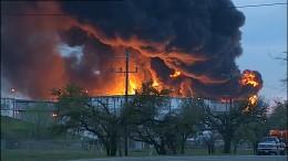 Großbrand in Brennstofflager