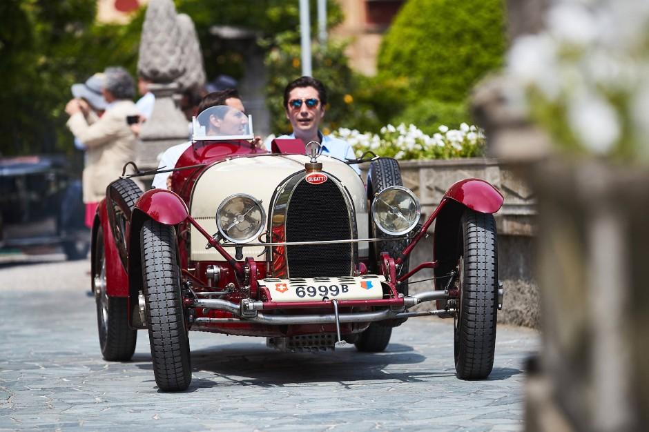 Das nennt man negativen Sturz: Bugatti 35 von 1925.