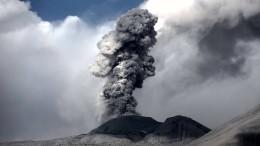 Schutzmasken nach Vulkanausbruch in Peru