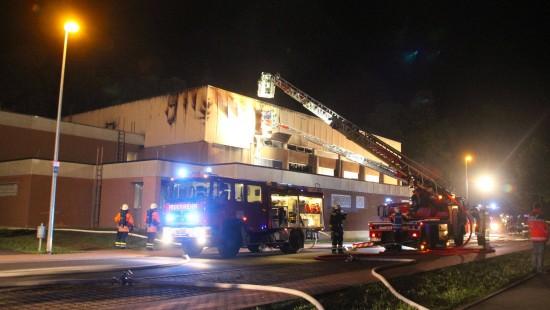 Geplante Erstaufnahmestelle fällt Flammen zum Opfer
