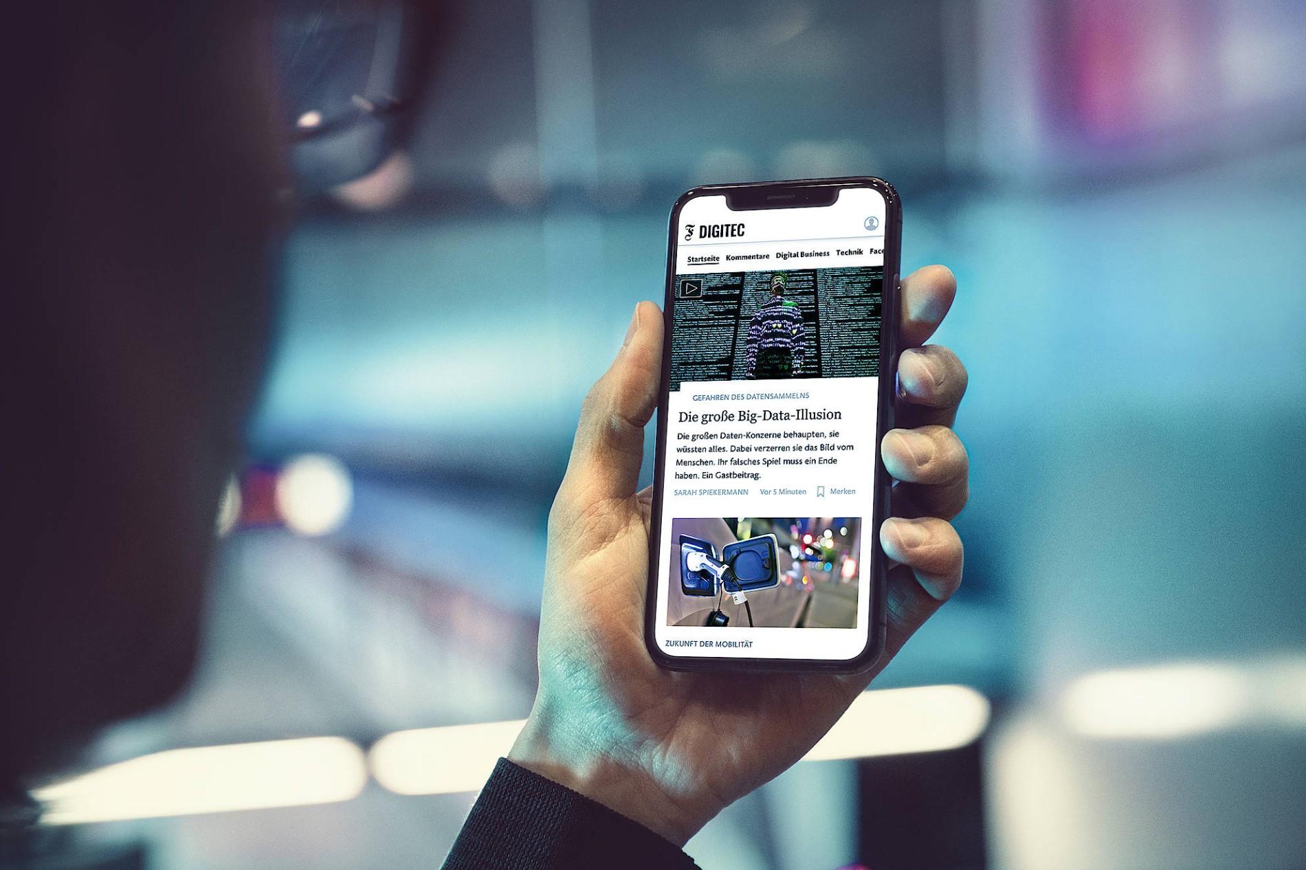 F.A.Z. Digitec App: Digitale Nachrichten direkt auf dem Smartphone