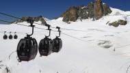 Mont-Blanc-Seilbahn: Technischer Defekt sorgt für Stillstand.