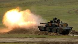 Amerikanische Panzer gegen Pekings Drohgebärden