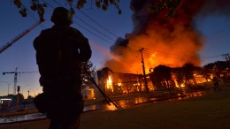 Großbrand nach Protesten in Chile