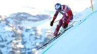Ski steil: Es sieht verflucht schwierig aus, was ein Fahrer wie Svindal mit seinem Rennski macht. In Wirklichkeit ist es noch viel schwieriger.