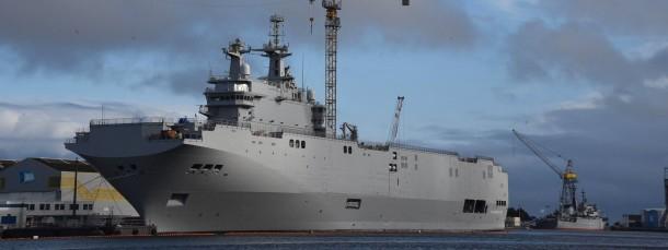 Sarkozy fordert, dass die Hubschrauberträger vom Typ Mistral an die russische Marine ausgeliefert werden.