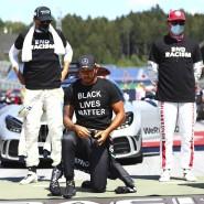 """""""Es fehlen Organisation und Einsatz"""": Formel-1-Weltmeister Lewis Hamilton protestiert vor dem Rennen in Budapest gegen Rassismus."""