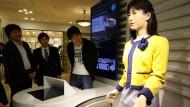 Ein humanoider Roboter der Firma Toshiba
