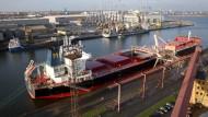 Hafen von Rostock: Der Schiffsverkehr war teilweise eingeschränkt
