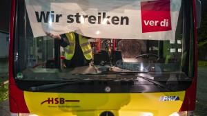 Tag 2 des Busfahrer-Streiks in Hessen