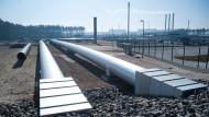 Anlandestelle der Nord-Stream-Pipeline im mecklenburgischen Lubmin