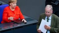 Im Bundestag: Kanzlerin Angela Merkel und der AfD-Vorsitzende Alexander Gauland