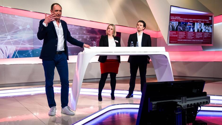 Max Conze, Vorstandsvorsitzender der ProSiebenSat.1 Media SE, bei der Bilanz-Pressekonferenz im März 2019