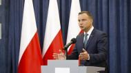 Polens Präsident kündigt Veto gegen Justizreform an