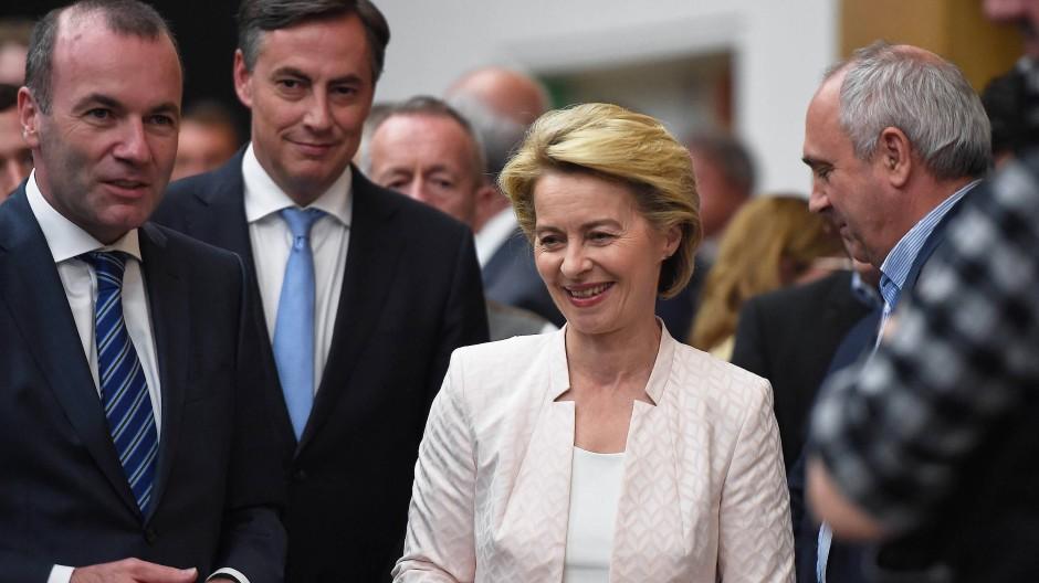 Ursula von der Leyen bei ihrem Besuch im europäischen Parlament