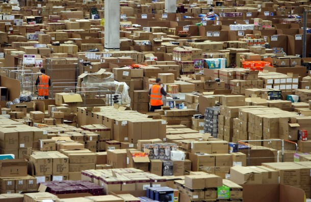 FILE PHOTO: 15 Years Since Amazon Website Launched In The UK  Amazon Warehouse Employees Prepare For Their Busiest Time Of Year