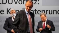 Die Kandidaten für den CDU-Parteivorsitz (v.l.n.r.): Norbert Röttgen, Friedrich Merz und Armin Laschet