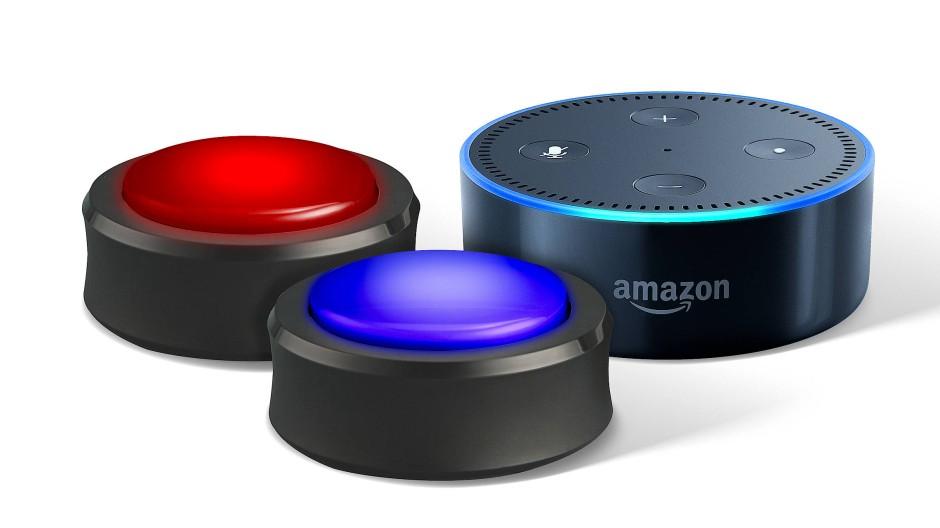 Amazon Button: Alexa fragt, der Kunde antwortet.