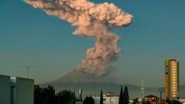 Neue Explosion am El Popo