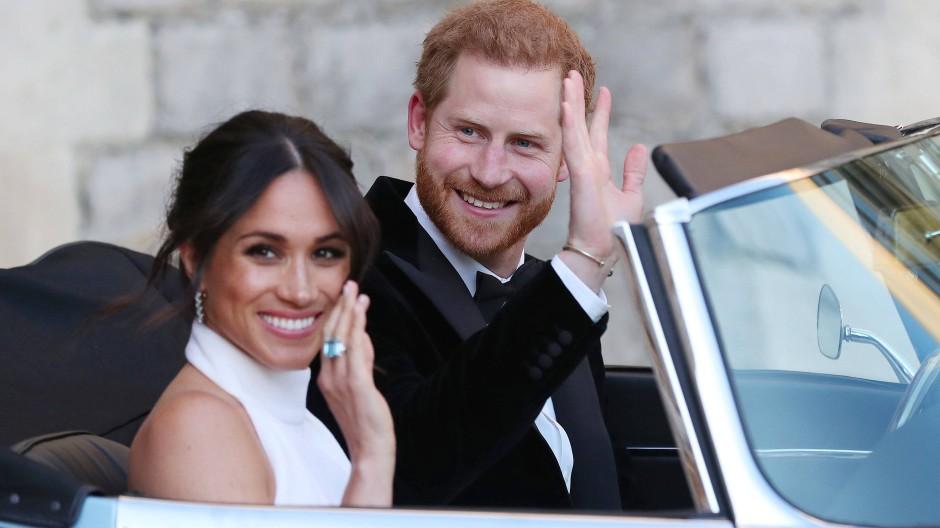 """Sagen """"Goodbye"""" zu den royalen Verpflichtungen und dürften es künftig schwer haben: Meghan, Herzogin von Sussex, und Prinz Harry."""